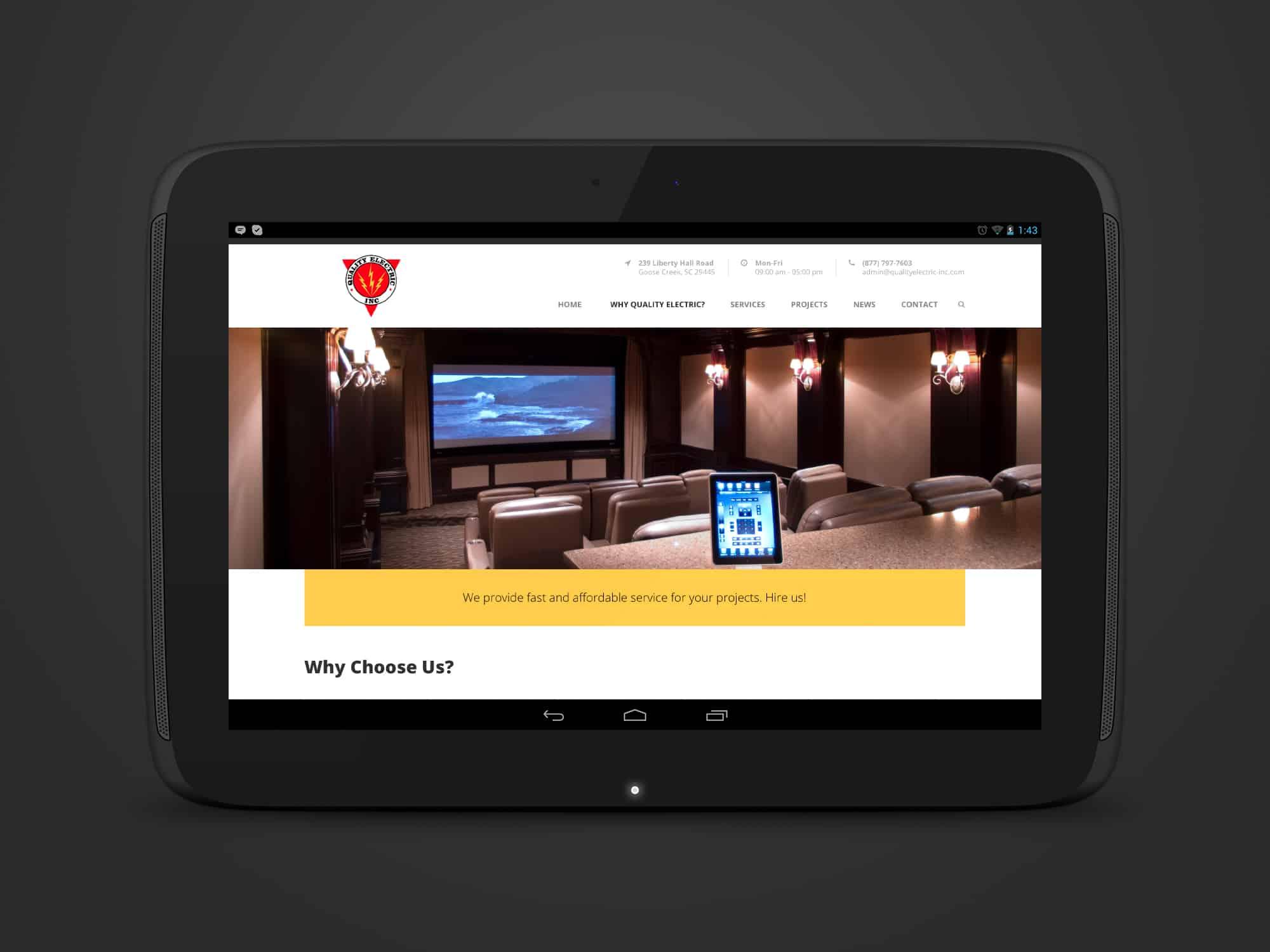 website wordpress development quality electric
