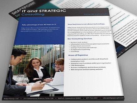 sales sheet graphic design: ridge group